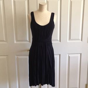 Anthropologie Bailey 44 Navy Blue Fitted Dress